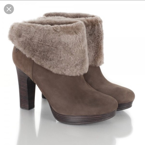 792a5945606 UGG Dandylion Suede and Shearling Bootie
